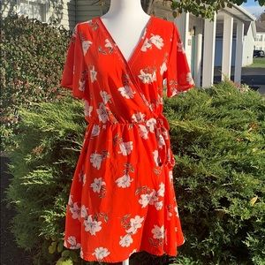 Sienna Sky Red Floral Dress Size S